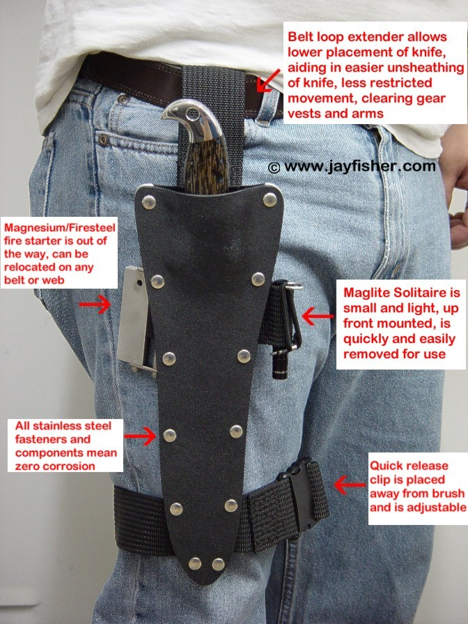 tactical combat survival knife sheath accessories by jay fisher. Black Bedroom Furniture Sets. Home Design Ideas