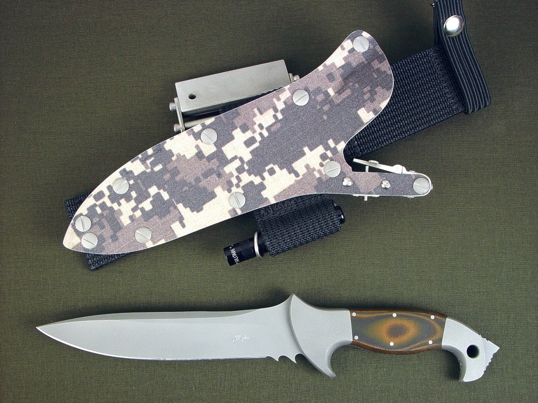 quot anzu quot  fine handmade tactical combat and survival knife